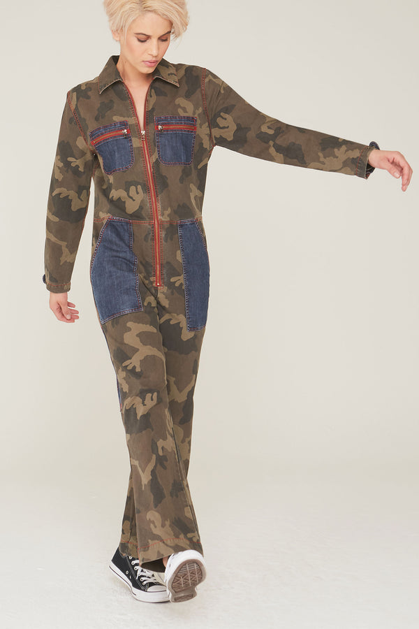 Jonah Jumpsuit in Camouflage Twill Print