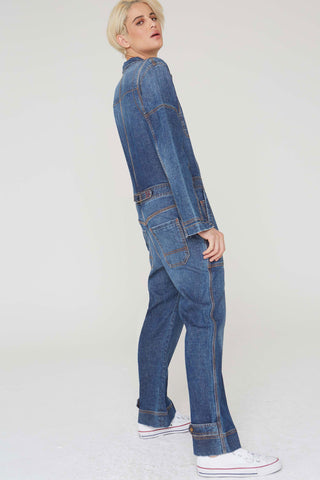 Theo Jumpsuit in Stonewash Denim