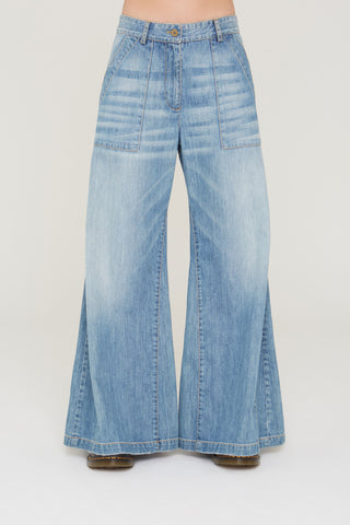 Justin flared leg denim in South Bay Wash
