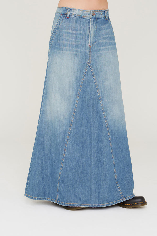Anouk denim skirt in South Bay Wash