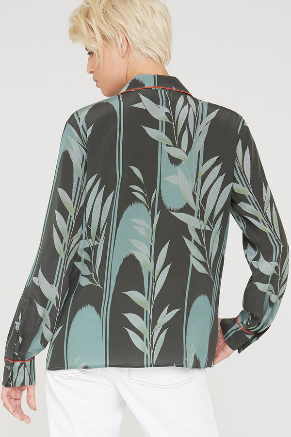Farah silk shirt in Mystic Creek print