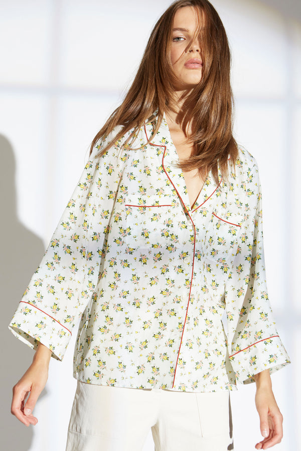 FARIS SILK SHIRT  IN PROVINCIAL FLORAL PRINT