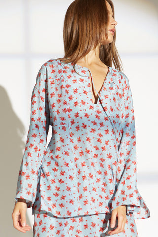 CECILY SILK BLOUSE IN PROVINCIAL FLORAL PRINT