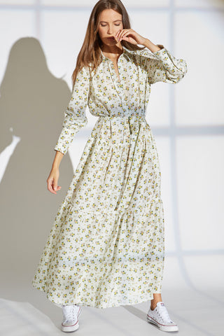 MIKKA SILK DRESS IN PROVINCIAL FLORAL PRINT
