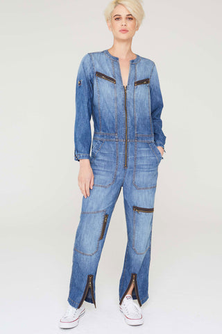 Levi Jumpsuit In Vintage Wash Indigo Denim