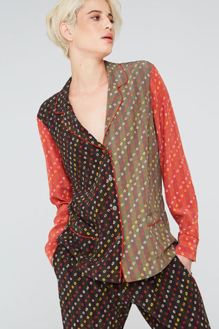 Frankie Silk Shirt In Shabori Mix Prints