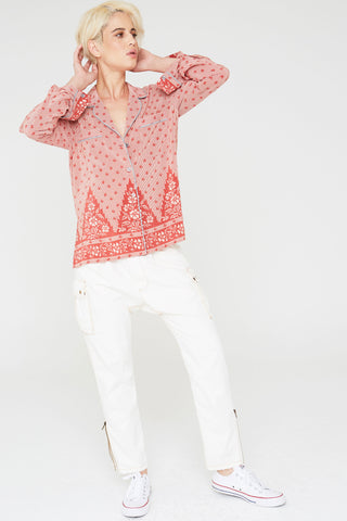 Farah Silk Shirt in Tapestry Hill Print
