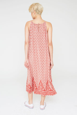 Talula Silk Halter Dress In Tapestry Hill Print