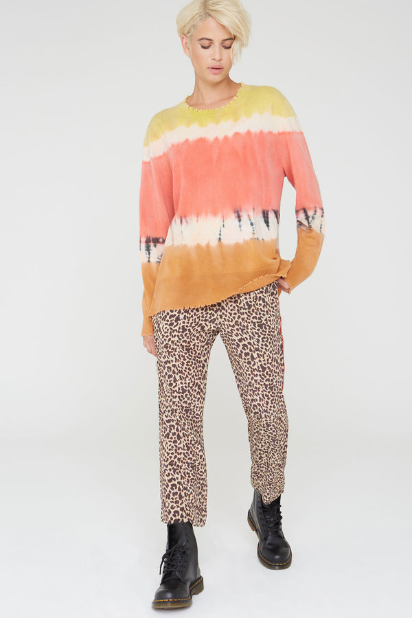 Kaden Silk Pants in natural Wild Thing print