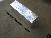 Club Car DS Highly Polished Aluminum Diamond Plate Front Bumper Cover 1982 up