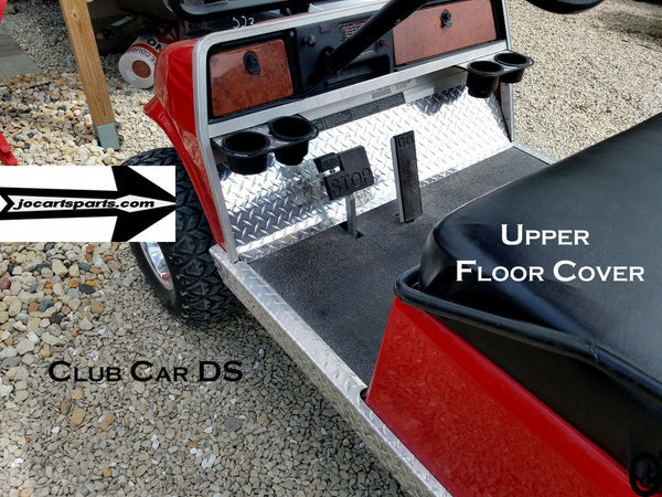 Club Car DS Golf Cart Polished Aluminum Diamond Plate Upper Floor