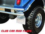 CLUB CAR DIAMOND PLATE MUD FLAPS