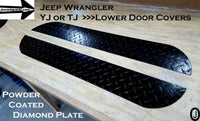 JEEP Wrangler TJ or YJ Highly Polished Aluminum Diamond Plate Lower Door Guards