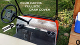 CLUB CAR DIAMOND PLATE FULL SIZE DASH COVER PLATE