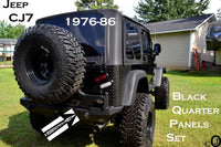 Jeep CJ7 2 PC Diamond Plate Rear Body Armor Quarter Panel - Corner Guard Set