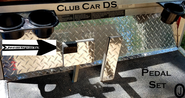 Club Car DS Golf Cart Highly Polished Aluminum Diamond Plate 2 pcs Pedal Set