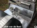 Club Car DS Golf Cart Polished Aluminum Diamond Plate Floor Fits 1982 and up