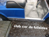 Club Car DS Golf Cart Polished Aluminum Diamond Plate Fullside Rockers