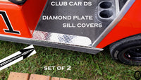 Club Car DS Golf Cart Aluminum Diamond Plate Rocker/ Floor SILL PLATES 1982 up