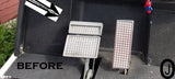 Yamaha g14 to g20 Golf Cart Polished Aluminum Diamond Plate 3 pc. Pedal Set