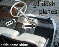 Yamaha G1 Golf Cart Highly Polished Aluminum Diamond Plate Dash Cover Plates