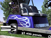 YAMAHA G1 Golf Cart Highly Polished Aluminum Diamond Plate Flat Side Panels