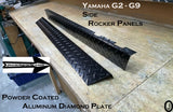 YAMAHA G2-G9 Golf Cart Aluminum Diamond Plate Side Rockers And Kick Plate, 3 pc Set