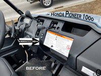 "Honda Pioneer 1000 Center Dash ABS Blank Mounting Cover For 3"" Radio & Gauges"