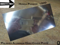 Honda Pioneer 1000 ABS Plastic Dash Blank Mounting Cover Plate For Radio & Gauges