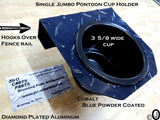 Pontoon Boat Aluminum Diamond Plate 1 Jumbo Cup Holder Fits 1 Inch Rail