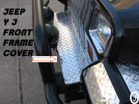 Jeep Wrangler YJ Highly Polished Aluminum Diamond Plate Front Frame Cover