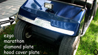 Ezgo Marathon Golf Cart Polished Aluminum Diamond Plate Front Hood Cover Plate