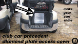 Club Car PRECEDENT golf cart Aluminum Diamond plate ACCESS PANEL COVER