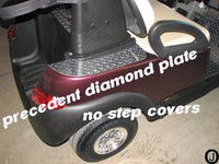 Club Car PRECEDENT golf cart Polished Aluminum Diamond plate No Step Covers
