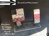 Club Car Precedent golf cart Aluminum Diamond plate 2 pc Pedal Cover Set