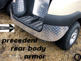 Club Car PRECEDENT golf cart Aluminum Diamond plate REAR BODY ARMOR