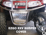 Ezgo RXV golf cart Highly Polished Aluminum Diamond Plate Front Bumper Cover