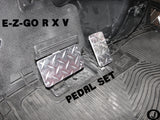 Ezgo RXV golf cart Highly Polished Aluminum Diamond Plate Pedal cover Set