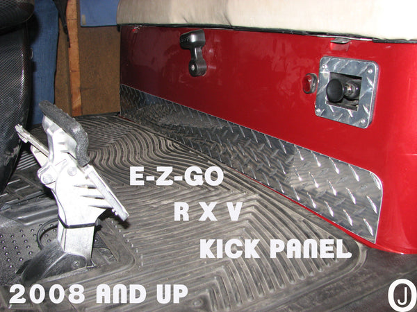 Ezgo RXV Golf Cart Highly Polished Aluminum Diamond Plate KICK PLATE
