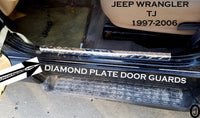 Jeep Wrangler TJ Aluminum Diamond Plate Door Entry Guard-Sills 23 inch long Set of 2