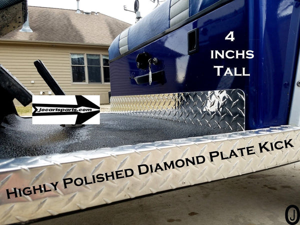 Yamaha G14-G16-G19-G22 Golf Cart Polished Aluminum Diamond Plate KICK Plate