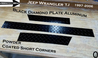 "Jeep TJ Wrangler 3 1/2"" Aluminum Diamond Plate 3 pcs set Short Corner Guards"