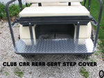 Club Car DS Golf Cart Polished Aluminum Diamond Plate Rear Seat Step Cover