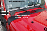 Jeep TJ Wrangler Custom Cut Polished Aluminum Diamond Plate Window Frame Cover