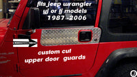 Jeep Wrangler YJ or TJ Highly Polished Aluminum Diamond Plate Upper Door Guards