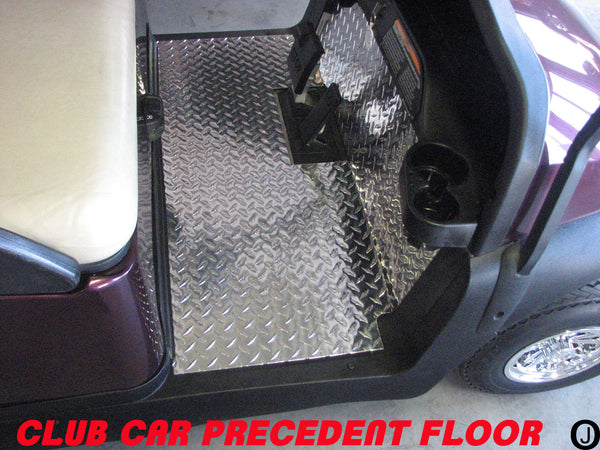 Club car PRECEDENT golf cart Highly Polished Aluminum Diamond Plate FLOOR