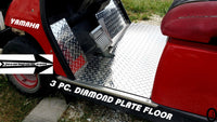 Yamaha G14 to G22 golf cart Aluminum Diamond Plate Floor Cover Kit 3 piece kit