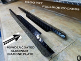 Ezgo TxT Golf Cart Polished Aluminum Diamond Plate Rocker Panel set