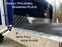 Ezgo Marathon Golf Cart Highly Polished Aluminum Diamond Plate Kick Panel