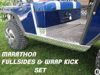 Ezgo Marathon Golf Cart Aluminum Diamond Plate FullSide Panels and Wrap Kick set